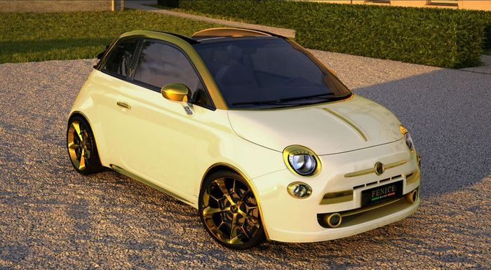 Fiat 500 Convertible Abarth за полмиллиона евро! (9 фото+видео)