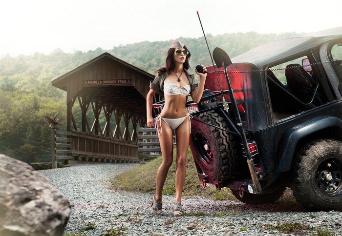 Красивые девушки и авто из журнала Miss Tuning (12 фото)