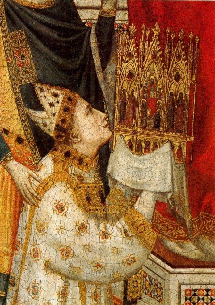 2. Первым широко известным применением эффекта «картинки в картинке» считается триптих Стефанески кисти итальянского художника Джотто ди Бондоне (1267-1337 гг).