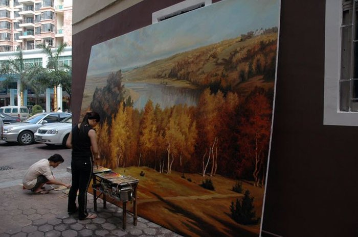 Дафен – город художников в Китае (14 фото + текст)