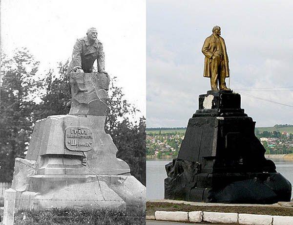 Лысьва. Памятник графу Шувалову. Установлен в 1908 году, демонтирован в 1918 году.