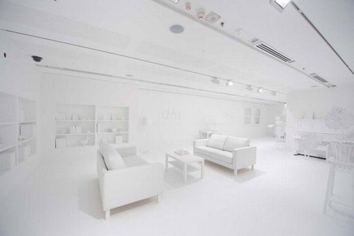 Во что способны дети превратить белую комнату (7 фото)
