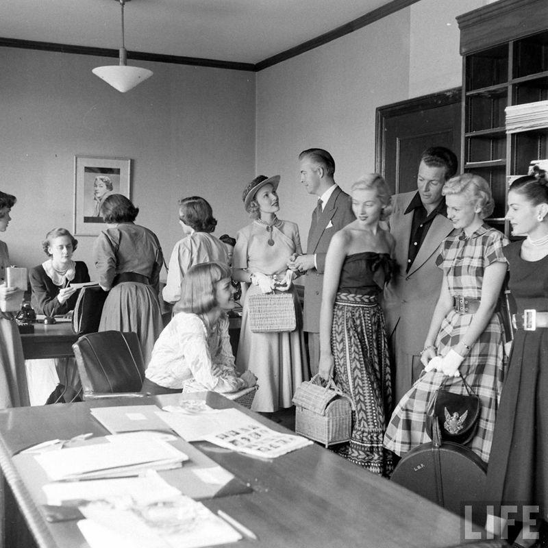 Будни американского модельного агентства 1948 (25 фото)