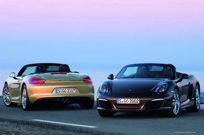 Компания Porsche представила новый Boxster (81 фото+2 видео)