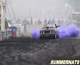 Сиреневый отжиг на старом Ford