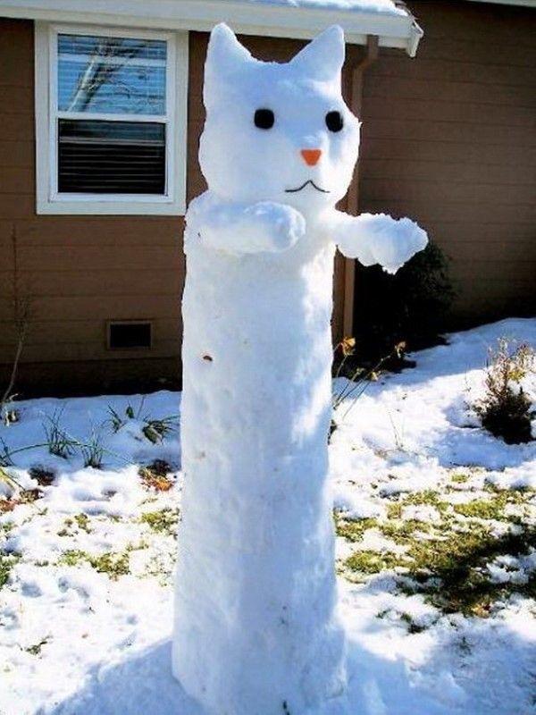 Лепнина из снега с фантазией (20 фото)