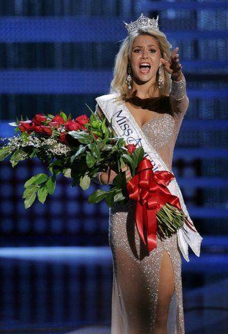 Эмоции победительниц Мисс Америка (9 фото)