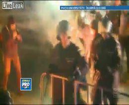 Столкновения с полицией в Бухаресте