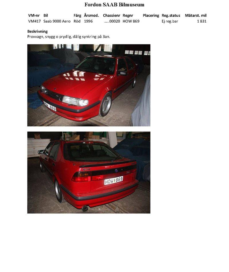Автомобили из музея SAAB будут проданы на аукционе (122 фото)