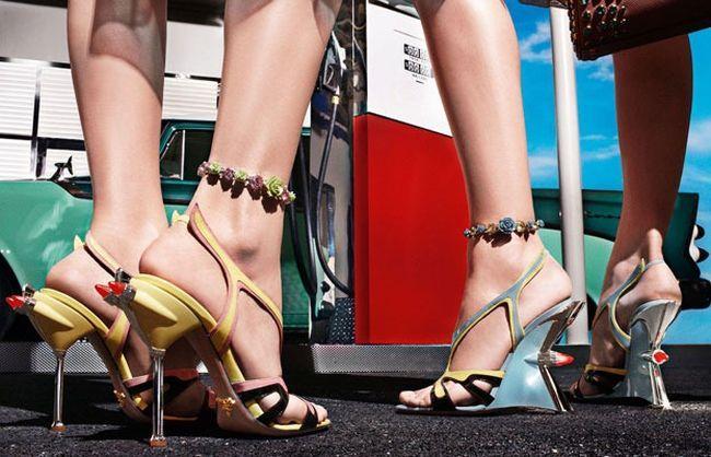 Женская обувь в стиле Cadillac 50-х годов и языков пламени Hot Rod (45 фото)