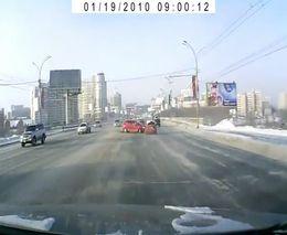 Лобовая авария в Новосибирске