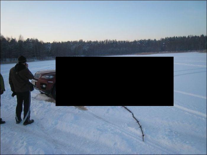 Латвийский ледокол BMW X6 (6 фото)