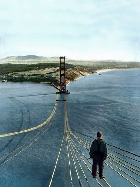 Строительство моста золотые ворота, 1933-1937 (14 фото)