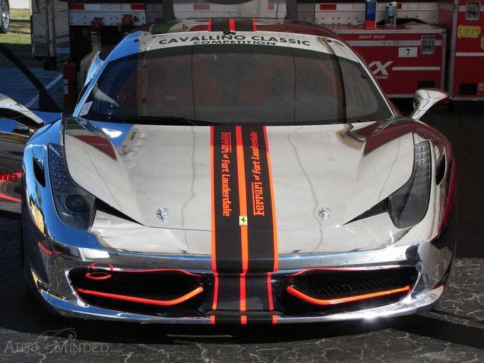 Хромированная Ferrari 458 Challenge (13 фото)