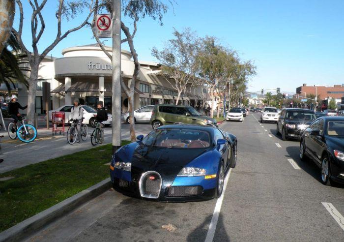 Необычный пассажир в Bugatti Veyron 16.4 (10 фото)