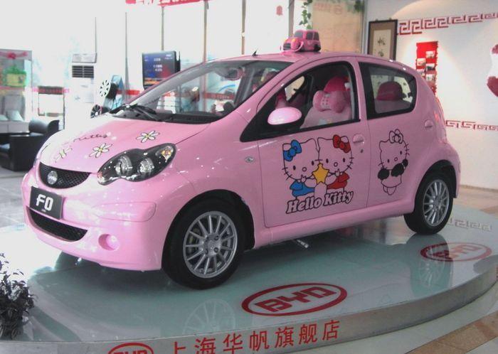 Hello Kitty затюнили китайский BYD (6 фото)
