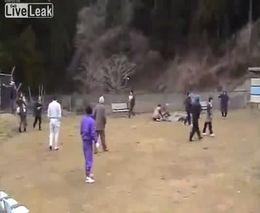 Новое видео цунами в Японии