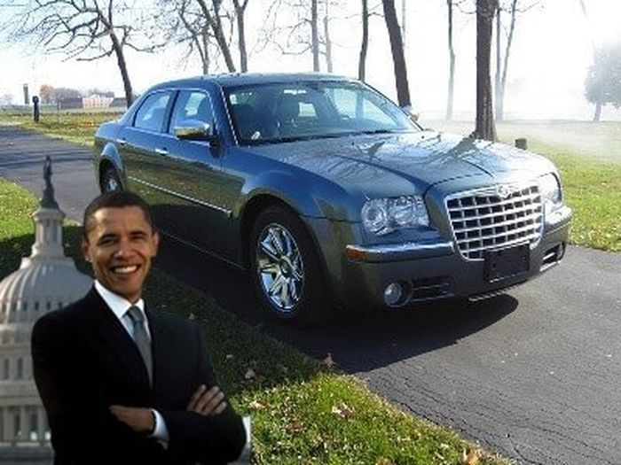 Chrysler 300C Барака Обамы хотят продать за 1 млн. $ (22 фото)