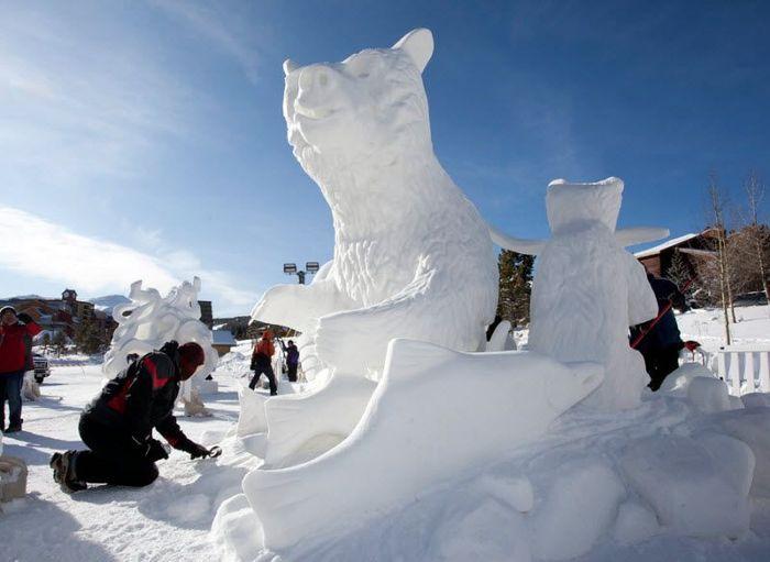 Фестиваль снежных скульптур в Брекенридже (6 фото)