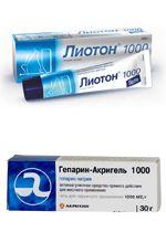 Фото Лиотон-1000 и Гепарин-акри гель 1000