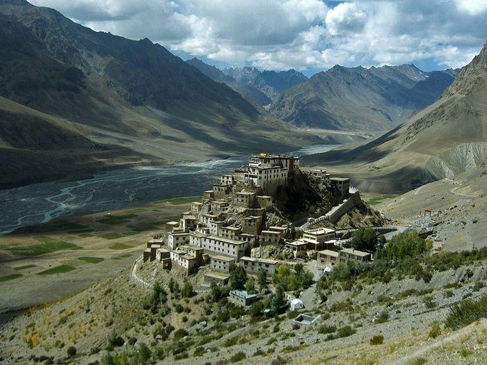 монастырь, тибет, ки гомпа,