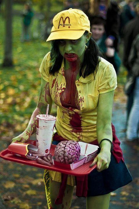 Бесплатно фото девушка, зомби, мозги, пародия