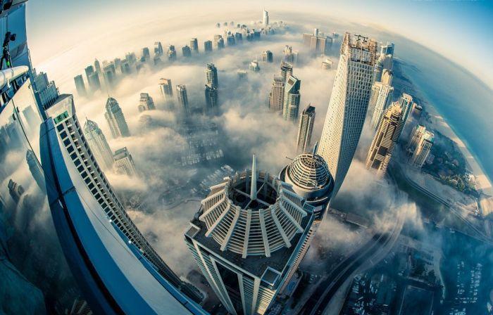 Юмор вид сверху, высотные здания, красивая фотография, небоскребы, с воздуха, штаты