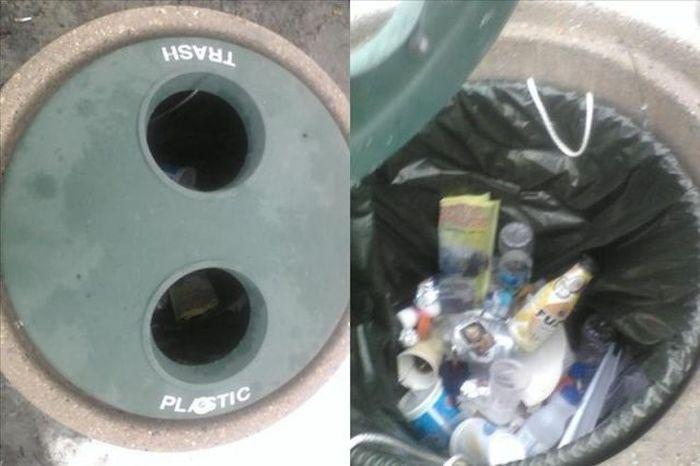 Фотожесть мусор, мусорка, пластик, прикол, прикольная картинка