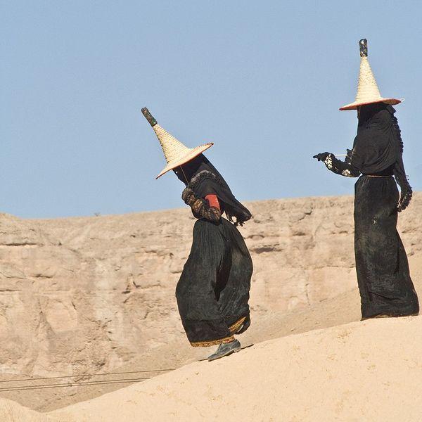 ведьма, женщины, йемен, костюм, провинция