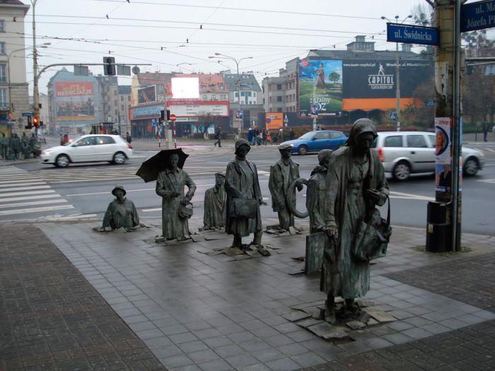 Юмор бронзовые, изваяние, на улице, скульптуры, тротуар