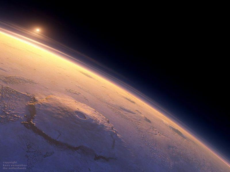 олимп, гора, солнечная система, космос