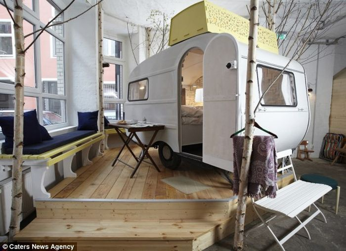 караван, отель, фургон, гостиница