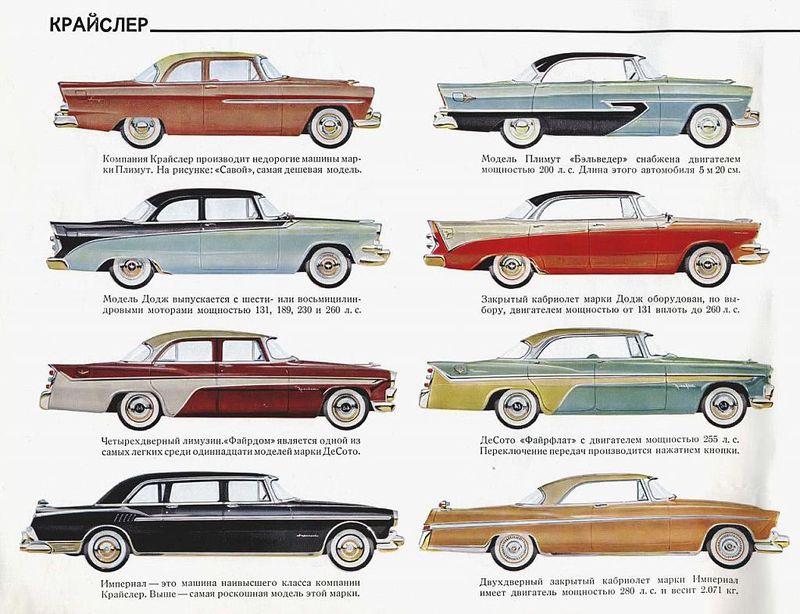 Каталог автомобилей всех марок 60х годов