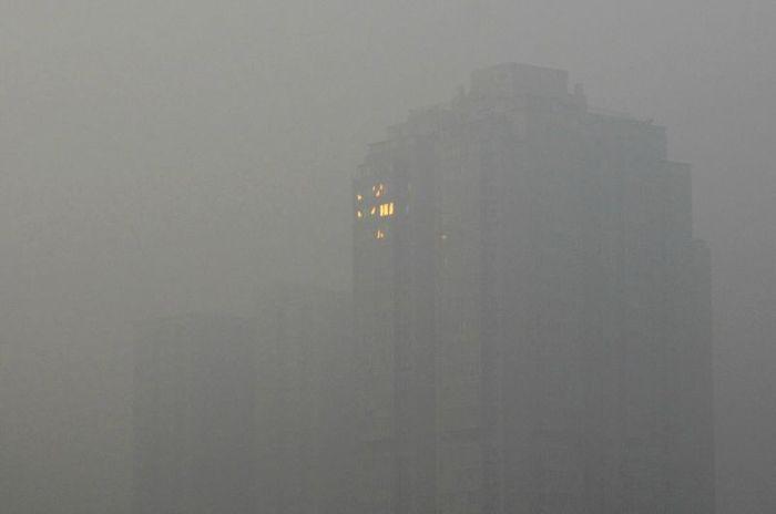 пекин, смог, туман