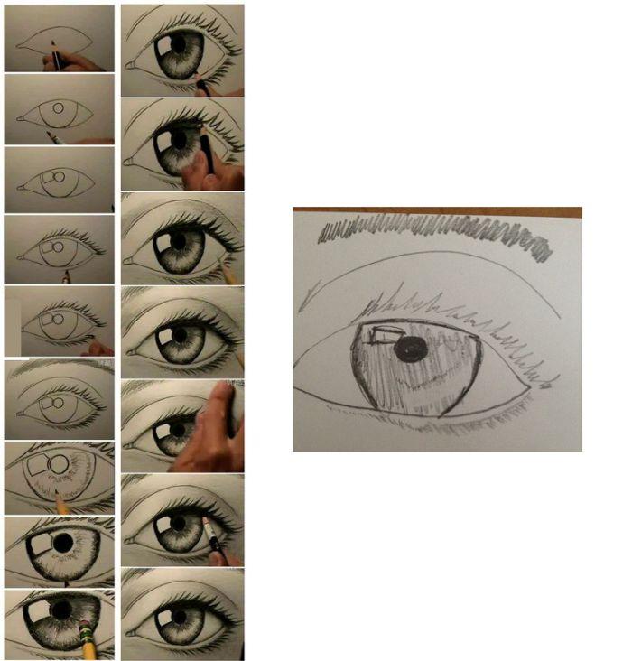 Фотоприкол недели глаз, красивый рисунок, мастер-класс, ожидание реальность, рисование