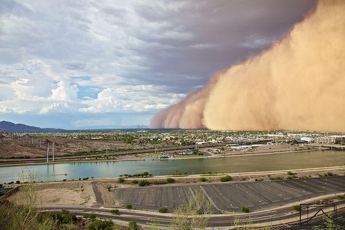 буря, песок, ураган, природа