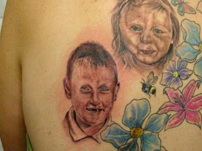 Фото прикол жесткий рисунок, прикол, страшные люди, татуировка