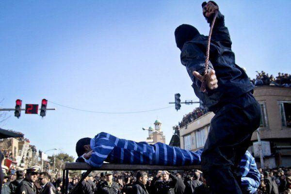 иран, публичная порка,