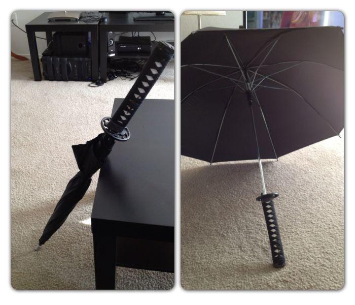 Фотоприкол дизайн, зонтик, катана, креатив, самурайский меч