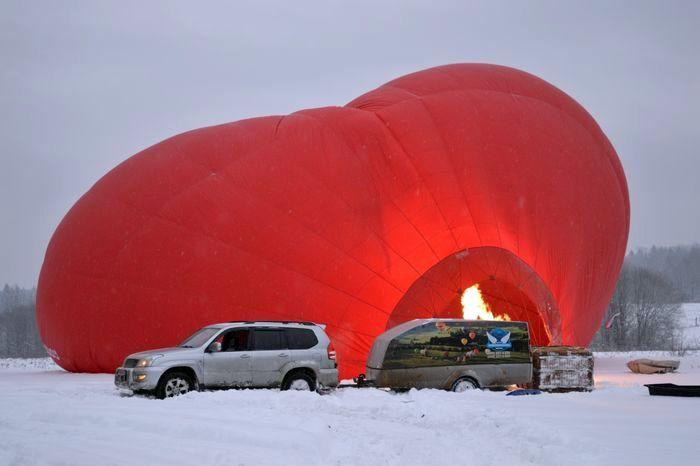 воздушный шар, полет,