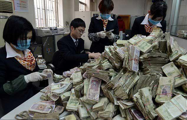 деньги, китай, банк, депозит,