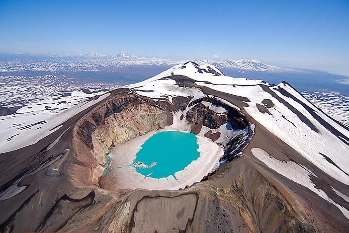 вулкан, малый семячик, камчатка,