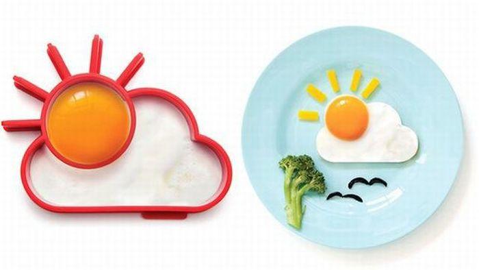 Свежий фотоприкол еда, красивый завтрак, облако, солнце, яичница