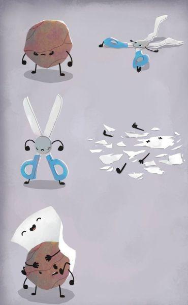 Смешной фотоприкол бумага, игра, камень, ножницы, прикол, рисунок
