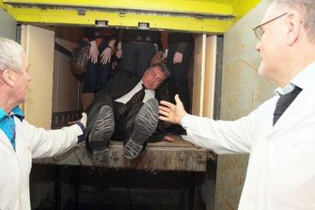 министр, лифт,
