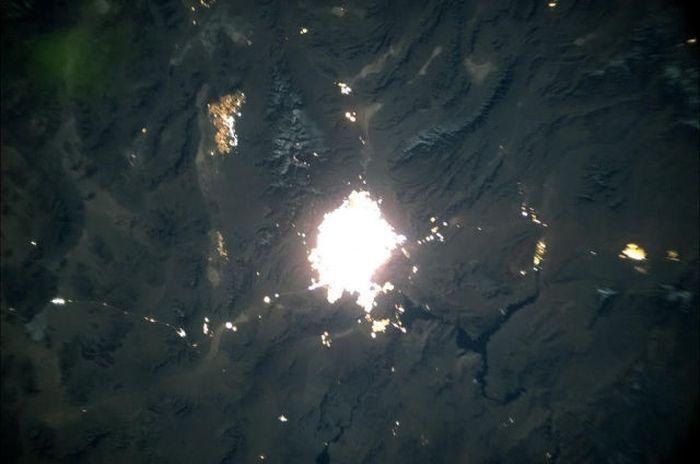 лас-вегас, вид из космоса,