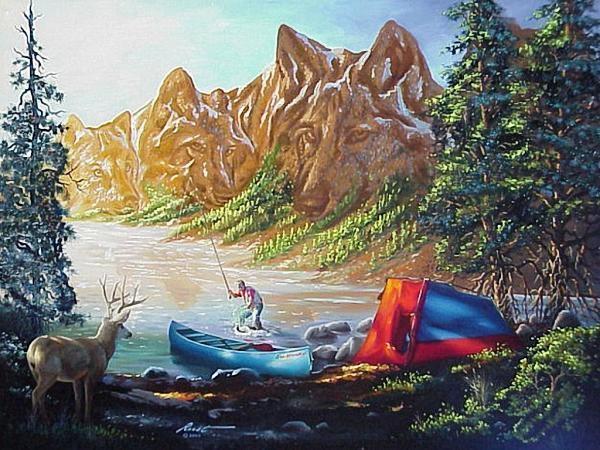 Иллюзионные картины Donald Rust (18 фото)