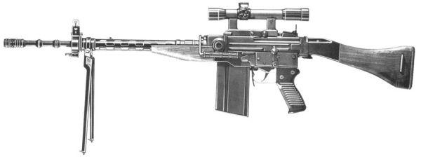 Затем на вооружение стал SIG 510 / Sturmgewehr 57. Эта винтовка, разработанная на SIG на основе SIG AMT Рудольфа Амслера под патрон GP11 7.5x55 оказалась настолько хороша, что долгое время она не только стояла на вооружении армии, но и неплохо шла на экспорт.
