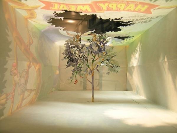 Бумажные деревья (10 фото)