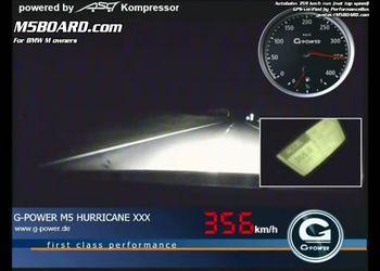 359 км/ч по автобану на G-Power M5
